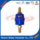 Pistón rotativo volumétrica del medidor de agua fría de plástico