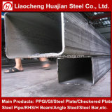 Especificación grande rectangular de tubos de acero en diferentes tamaños