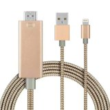 Venta caliente relámpago cable HDMI para el iPhone e iPad iPod Plug and Play