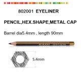 Деревянный косметический карандаш для Eyeliner с золотистой крышкой металла
