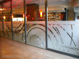 Lettere tagliate/di vetro di finestra di Compny autoadesivo glassato marchio con l'abitudine