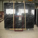 Chine Guangxi Black Marquina Granite Cutter Size Slabs Black Marble