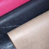 古典的な格子または格子デザイン模造PUの革、装飾的な革