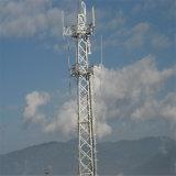 電気通信のための電流を通された鋼鉄ガイラインマストのアンテナ鉄塔