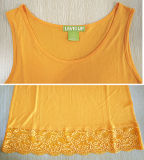 Vestuário de moda Loose Casual Summer Sleeveless Knit Tanktop para mulheres