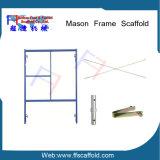 O pó de aço revestiu a caminhada do andaime do frame através do frame