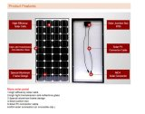 mono painel 50W solar para a luz de rua solar
