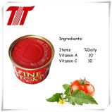 Pasta fina orgânica Tom 400g enlatada do tomate com alta qualidade