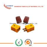 Tipo padrão miniatura do IEC K do conetor de par termoeléctrico umas (tipo T)