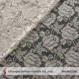 Venda por atacado elástica do laço da tela floral do laço do estiramento (M1108)