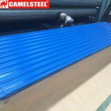 Couleur ondulé en acier galvanisé recouvert de tôle de toit