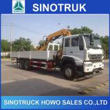 Camion de grue monté par machines de Sinotruk HOWO à vendre
