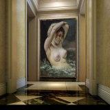Peinture à l'huile en gros de décoration de qualité, peinture à la maison de décoration, peinture d'art (le femme dans les ondes)