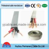 Câble d'alimentation plat de BVVB+E pour des constructions