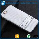 Caso de Kickstand do telefone móvel da fibra do carbono para Samsung S8/S8 mais