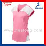 Healong unbelegte Kleidung-Sublimation-Dame-Sleeveless Volleyball Jersey