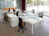 Mobília de escritório moderna da tabela do escritório de equipe de funcionários da placa do MFC da alta qualidade de Uispair