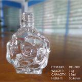 Geprägte elegante Rosen-Form-Glasnagellack-Flasche