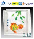 Высокое качество Jinghua художественных L-8 Окраска стекла блок/кирпича