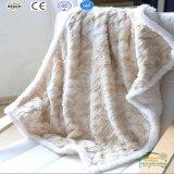Cobertor grosso do inverno do velo de Sherpa da impressão