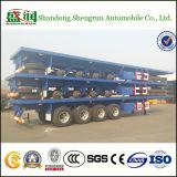 40feet 4 Aanhangwagen van de Lading van de Container van het Frame van de As Flatbed Semi