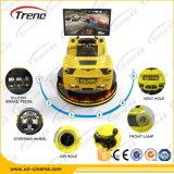 Fornitore professionista che guida il simulatore di addestramento di guida di veicoli del simulatore