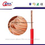 Câble électrique isolé par conducteur de cuivre solide à un noyau