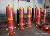 油圧オイルの造られた鋼鉄ピストン棒が付いている油圧プランジャシリンダー