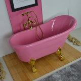 Un estilo europeo Color rosa bañera con precio de los pies, bañera con pies de precio (BG-7006G)