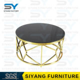 ホーム家具の金のステンレス鋼表の大理石表のコーヒーテーブル