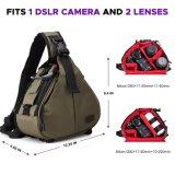 Компактным подгонянный сбор винограда мешок камеры слинга для DSLR Сони канона Nikon