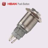 Haut Round Spdt étanche de verrouillage de commutateur à bouton poussoir en acier inoxydable IP67