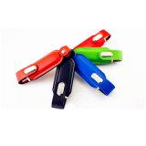 Cadeau en cuir de mode de Pendrives de carte mémoire Memory Stick de film publicitaire du lecteur flash USB 32GB 8GB USB 2.0 de Pendrive de trousseau de clés en métal