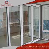 Puerta deslizante de cristal doble de aluminio revestida de la potencia de 80 series