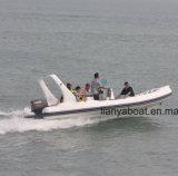 Hypalon Liya 6.2m barco inflável de casco de fibra de vidro sobre a venda