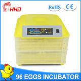 Incubadora automática del huevo del pollo de Hhd para los huevos para incubar (YZ-96)