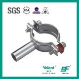 Encaixes de tubulação redondos inoxidáveis higiênicos do suporte da tubulação da tubulação de aço