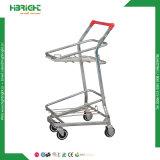 Supermarkt-Einkaufen-Laufkatze-System-Laufkatze mit zwei Körben