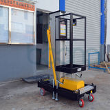 Beweglicher elektrischer doppelter Mast-hydraulischer vertikaler Mann-Aluminiumaufzug