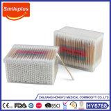 中国の工場によってカスタマイズされるパッケージの木の棒の綿綿棒