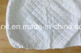 Por completo elástico de bambú blanco natural del protector del colchón del 100% alrededor del colchón ajustado acolchado de la pista de colchón