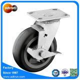 6 дюймов для тяжелого режима работы PU самоустанавливающиеся колеса с роликового подшипника