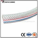 PVC transparent aucun boyau renforcé de fil d'acier d'odeur pour l'irrigation