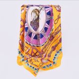 Lenço de seda de Natual da impressão feita sob encomenda de Digitas para a senhora