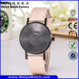 Montre-bracelet occasionnelle de dames de quartz de courroie en cuir de mode d'ODM (Wy-105I)