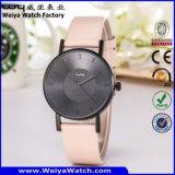 Relógio ocasional da mulher de quartzo da cinta de couro de OEM/ODM (Wy-105I)