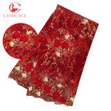 Ткань шнурка Tulle 3D цветка высокого качества Bridal для платья партии Aso Ebi