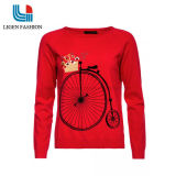 아름다운 패턴을%s 가진 유행 뜨개질을 한 스웨터