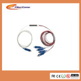 Divisore a blocchetti a fibra ottica del PLC del cavo di colore di 900um 1X4 Sc/Upc Blockless