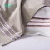 白の100%年の綿の単一のカスタム刺繍の寝具